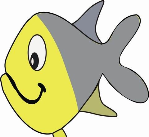 Smiling Fish Coloring Pages