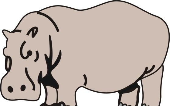 Hippopotamus Coloring Pages for Kids to Color and Print