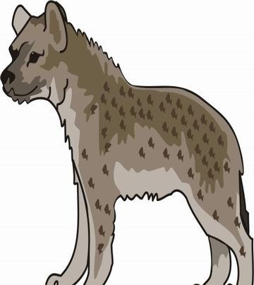 Hyena Coloring Pages for Kids to Color and Print