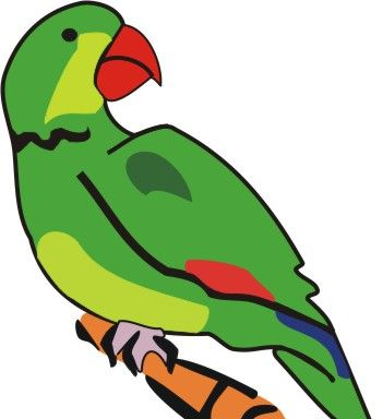 printable celebrity spray paint stencils - Parrot Pictures To Color