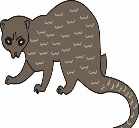 Weasel Coloring Pages for Kids